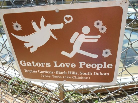Reptile Gardens: Sign at the Alligator Show