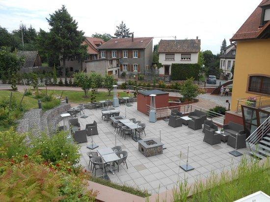 Hostellerie des Chateaux & Spa: Terasse