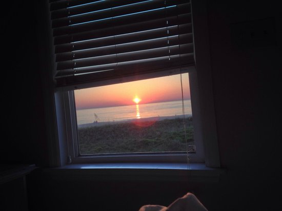 The Saint Augustine Beach House: If you don't feel like getting out of bed to watch the sunrise just open you blinds.