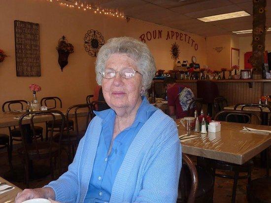 Little Italy Italian Kitchen: My fun mother-in-law at Little Italy Susanville! Mama mia! Good food!
