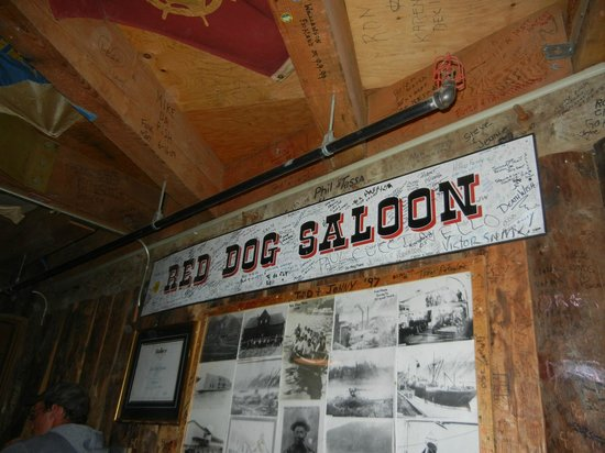 Red Dog Saloon: Taken upstairs