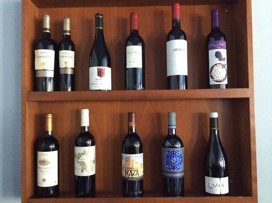 Restaurant El Xalet: Wines on offer at the Hotel Montane's restaurant
