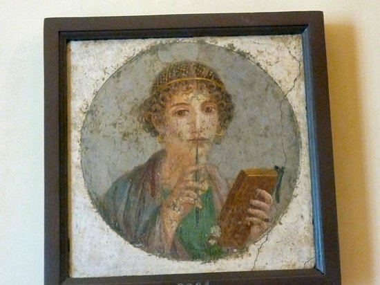 Musée archéologique national de Naples : Painting of a girl from Pompeii?