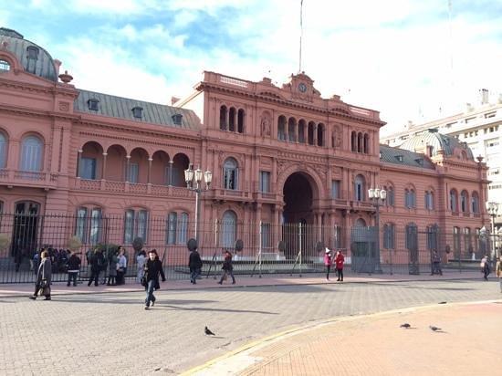 Hilton Buenos Aires: The balcony Eva Peron used.