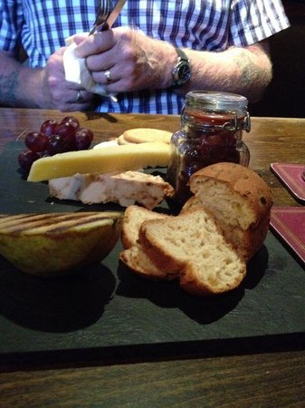 The Mill at Worston: Cheese board