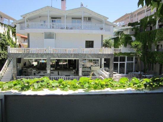 Hotel Olympic Kosma: Ресепшен. Вид с моего балкона.