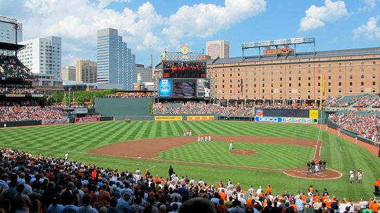 Oriole Park at Camden Yards: Third base line at Oriole Park