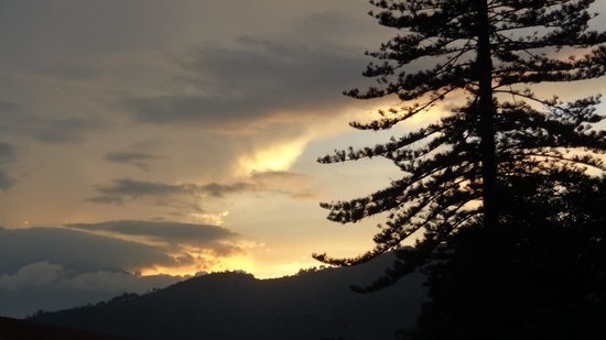 Hotel Las Camelias Inn: Evening sunsets from the hotel terrace