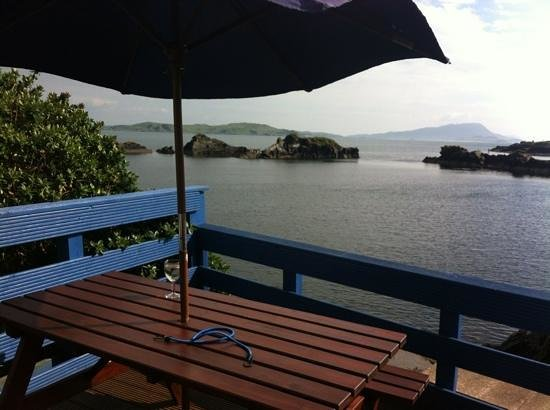The Oyster Bar & Restaurant: wonderful view from the beer garden.