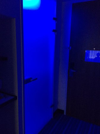 Holiday Inn Express Rotterdam - Central Station : Purple colour toilet. Nice