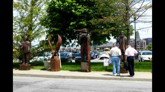 Erie Basin Marina: Historical Carved Statues