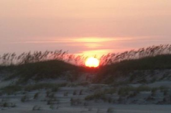 Hatteras Sands Campground: Sunset on the Beach