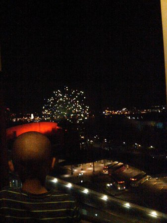 Oakes Hotel Overlooking the Falls: Firework show from our room