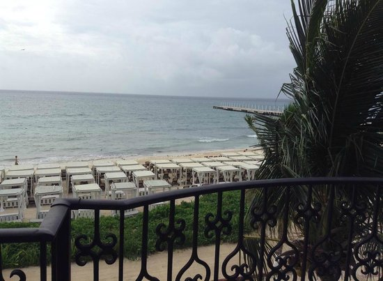 The Royal Playa del Carmen: Balcony view from room 536 ocean front suite