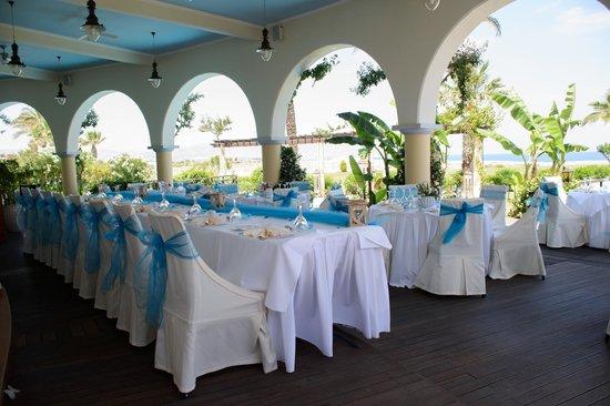 Atrium Palace Thalasso Spa Resort & Villas: Our wedding reception at Asterias