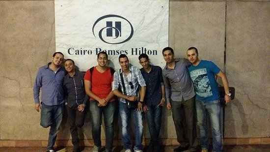 Ramses Hilton: me and my friends  enjoying