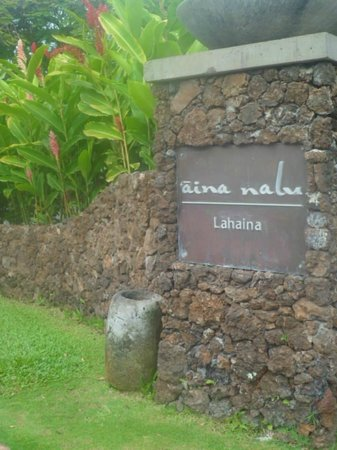 Aina Nalu: Parking Lot Enterance