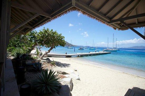 Cooper Island Beach Club Restaurant: View from restaurant
