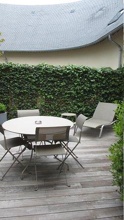 Les Manoirs de Tourgéville : Backyard