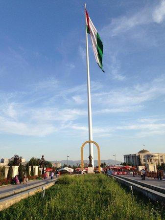 Rudaki Park: The world's tallest free-standing flagpole