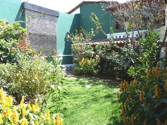 Hotel Casa del Parque: garden & wall fountain