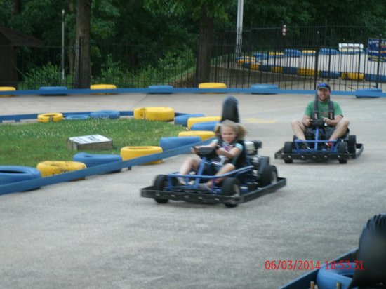 The Track Family Fun Parks : Dad & Daughter Kart racing.