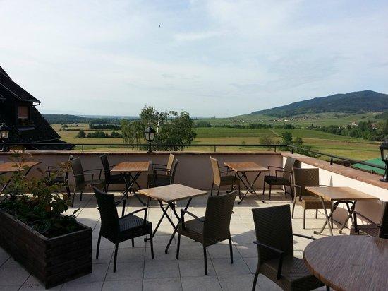 Emmebuckel : vue depuis la terrasse
