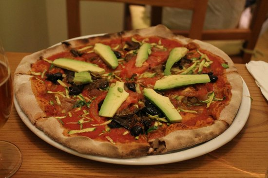 Avocado : vegan pizza