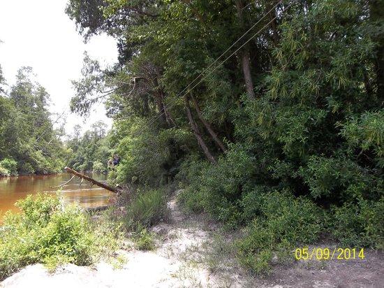 Adventures Unlimited Outdoor Center: My friend, Doug, zipping along river