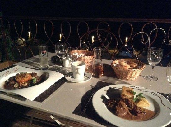 Hotel Le Belvedere : Ужин