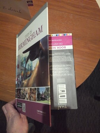 The Royal Angus Hotel: The Birmingham Guide Book with cover on upside down!