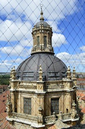 Centro histórico de Salamanca: Cúpula de La Clerecía desde las torres de la Catedral Nva.