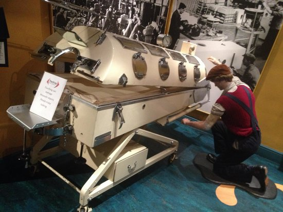 Thackray Medical Museum: Iron lung made by Morris motors oxford