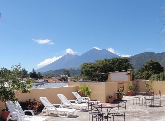 Hotel Posada San Vicente: our 3rd level terrace has great views & lots of places to sit