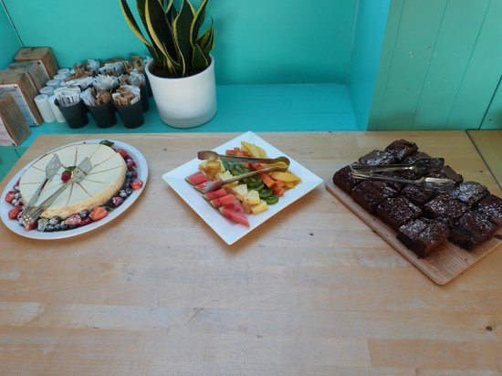 Godrevy Cafe: The delicious desserts served for our evening buffet