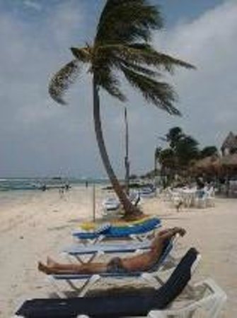 Posada Pachamama: playa a unos metros del hotel