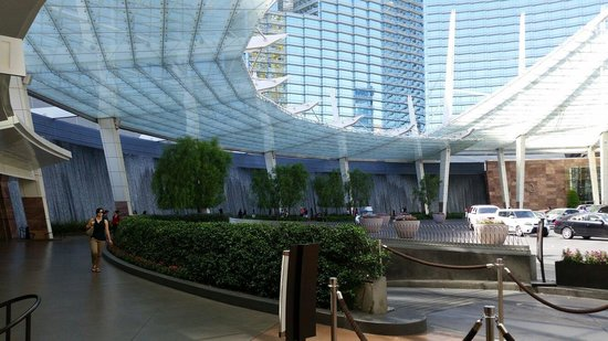 Jean Philippe Patisserie - Aria Resort : Outside entry to hotel and location in casino