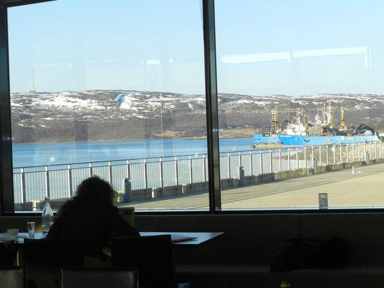 Thon Hotel Kirkenes: vista desde el comedor