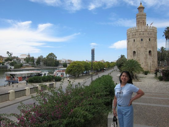 Torre del Oro: The tower complements the river and bank