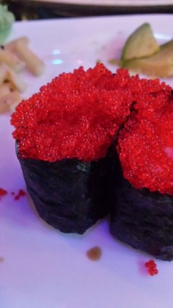 Umami: Flying fish roe (tobiko) nigiri