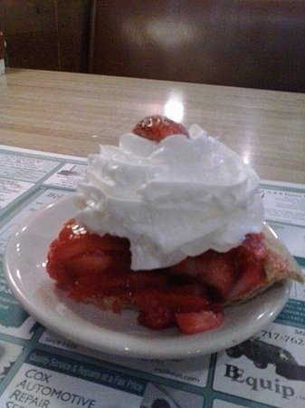 Parlor House: Strawberry pie with whipped cream