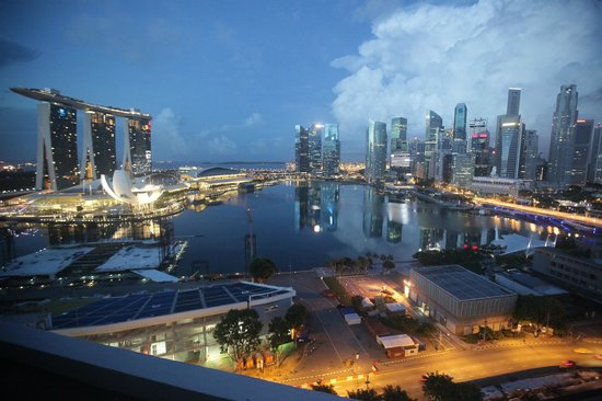 Mandarin Oriental, Singapore: Marina bay view from room