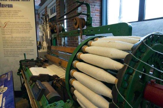 Lowell National Historical Park: Draper Loom in visitor Center