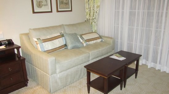 Disney's Grand Floridian Resort & Spa: Comfy couch that has a pull out bed