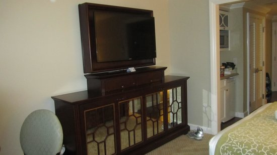 Disney's Grand Floridian Resort & Spa: A pull down bed is hidden under the television