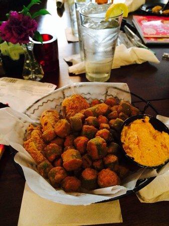 Sweet Potatoes: Fried Green Tomatoes and Okra! Amazing!