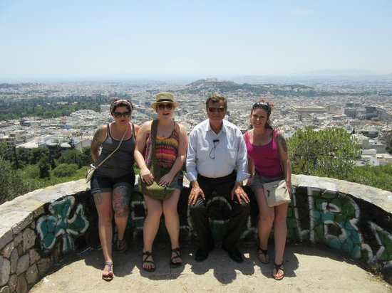 George's Taxi: With George overlooking Athens