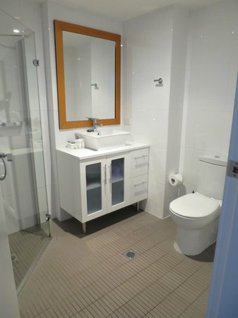 Snowgoose Apartments : Bathroom in one bed apartment