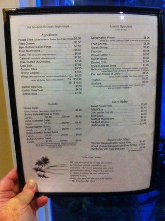 Courtney Bay Seafood: Menu Page 2