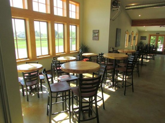 Brewery Terra Firma: Lots of windows overlooking our fields and surrounding countryside.